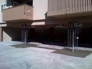 footing concrete pour