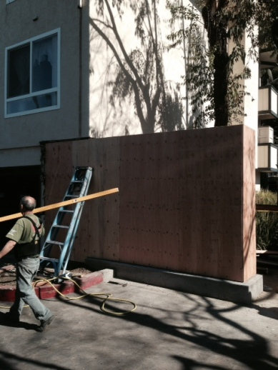 New Wooden Shear Wall (Before Stucco)